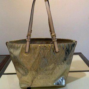 Michael Kors Metallic Gold Handbag Tote